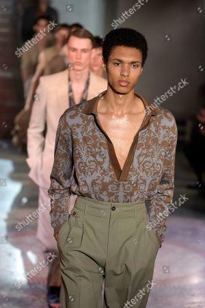 Editorial photo of Pal Zileri show, Runway, Spring Summer 2020, Milan Fashion Week Men's, Italy - 17 Jun 2019