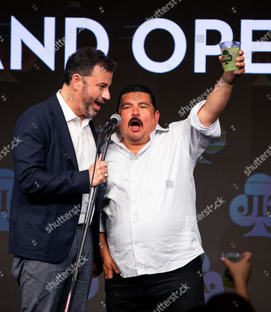 Stock Picture of Jimmy Kimmel and Guillermo Rodriguez