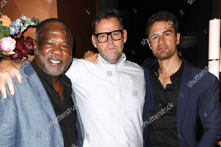 Stock Photo of Isiah Whitlock Jr, Matt Aselton (Writer, Director) and Theo James