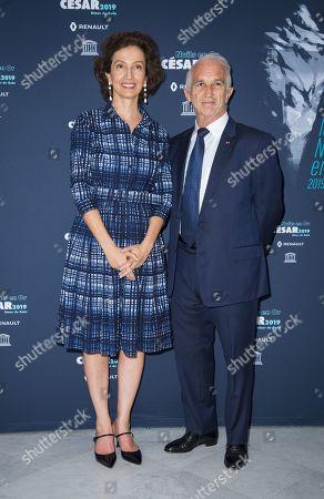 Audrey Azoulay and Alain Terzian