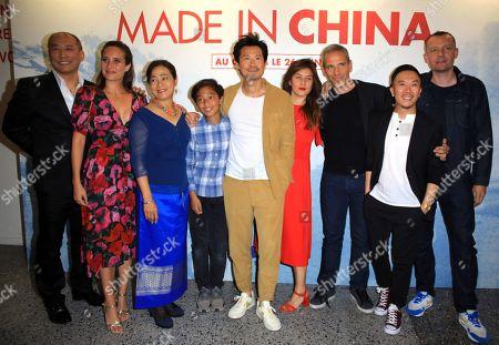 Frederic Chau, center, Julie De Bona, Medi Sadoun, Steve Tran, far right, Julien Abraham