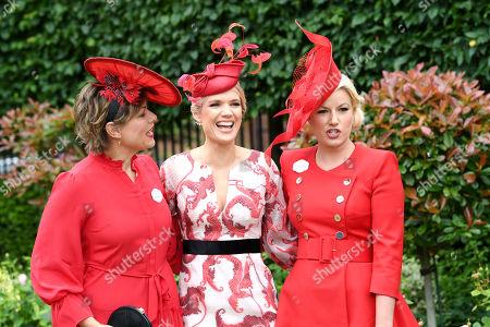 Kate Silverton, Charlotte Hawkins and Natalie Rushdie