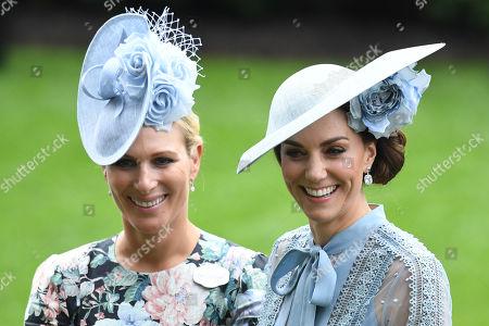 Zara Tindall and Catherine Duchess of Cambridge