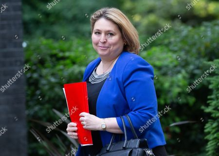 Karen Bradley, Secretary of State for Northern Ireland, arrives for the weekly Cabinet meeting.