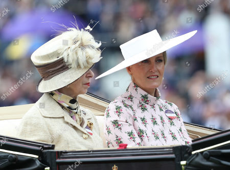 Stock Image of Princess Anne sits next to Sophie Countess of Wessex