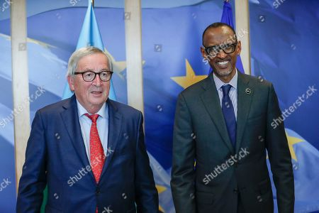 President of Rwanda Paul Kagame visits the EU commission, Brussels,
