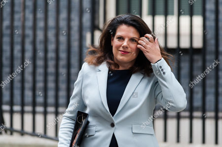 Minister of State for Immigration Caroline Nokes leaves 10 Downing Street in London after the weekly Cabinet meeting.
