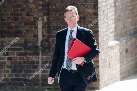 Secretary of State for Digital, Culture, Media and Sport Jeremy Wright arrives for the weekly Cabinet meeting at 10 Downing Street in London.