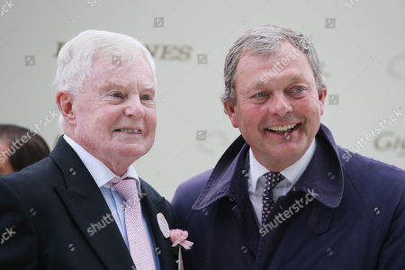 Portrait of trainer William Haggas (right) and actor Sir Derek Jacobi at Ascot racecourse, GB. Royal Ascot