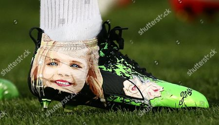 Stock Picture of James Maddison  special boots in honour of 'best friend' Sophie Taylor who died in January after battle with bone cancer