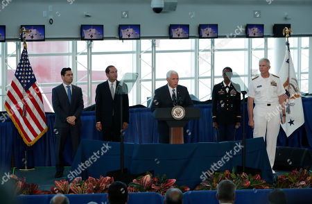 Vice President MikePence visits hospital ship, Miami
