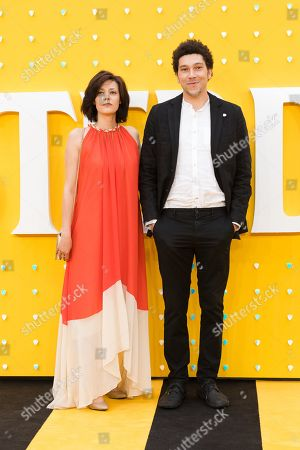 Kristina Aleksandrova and cast member Joel Fry pose on the red carpet at the UK premiere of 'Yesterday' at the Odeon Luxe Leicester Square in London, Britain, 18 June 2019. The film is released nationwide in Britain on 28 June 2019.