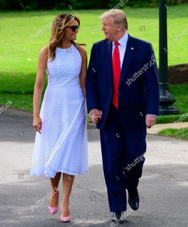 President Trump Departs White House, Washington DC