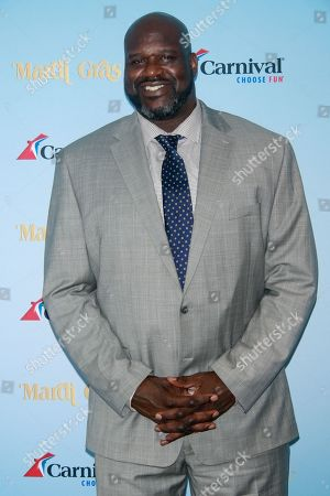 Carnival Cruise Line and Shaquille O'Neal Host Deck Party On Carnival's Newest Ship Mardi Gras, New York