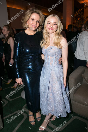 Renee Fleming (Margaret Johnson) and Dove Cameron (Clara Johnson)