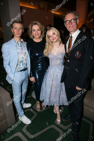 Rob Houchen (Fabrizio Naccarelli), Renee Fleming (Margaret Johnson), Dove Cameron (Clara Johnson) and Alex Jennings (Signor Naccarelli)