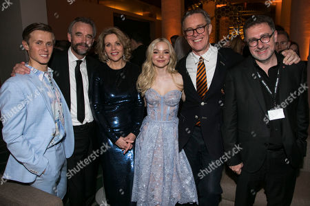 Rob Houchen (Fabrizio Naccarelli), John Berry (Producer), Renee Fleming (Margaret Johnson), Dove Cameron (Clara Johnson), Alex Jennings (Signor Naccarelli) and Anthony Lilley (Producer)