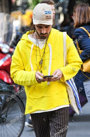 Editorial photo of Giotto Calendoli out and about, Milan Fashion Week Men's, Italy - 17 Jun 2019