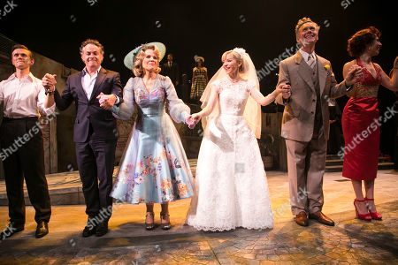 Rob Houchen (Fabrizio Naccarelli), Adam Guettel  (Music/Lyrics), Renee Fleming (Margaret Johnson), Dove Cameron (Clara Johnson), Alex Jennings (Signor Naccarelli) and Celinde Schoenmaker (Franca Naccarelli) during the curtain call
