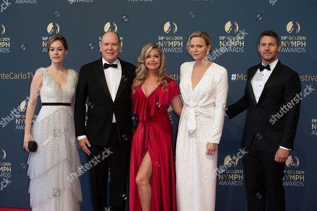 Annika Noelle, Prince Albert II of Monaco, Denise Richards, Princess Charlene of Monaco and Scott Clifton