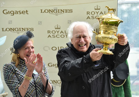 Stock Image of Sir Evelyn de Rothschild and Lynn Forester de Rothschild after thier horse Crystal Ocean had won The Prince of Wales's Stakes.