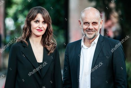 Stock Picture of Paola Cortellesi with husband the director Riccardo Milani