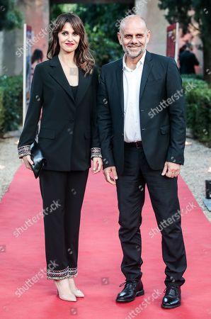 Paola Cortellesi with husband the director Riccardo Milani
