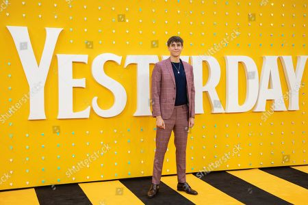 Stock Image of Alex Arnold poses for photographers upon arrival at the premiere of the film 'Yesterday' in London