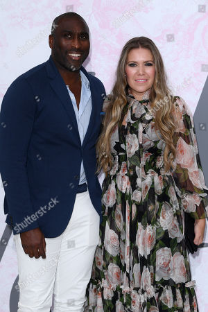 Stock Photo of Fiona Barratt-Campbell and Sol Campbell