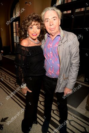 Dame Joan Collins and Sir Andrew Lloyd Webber