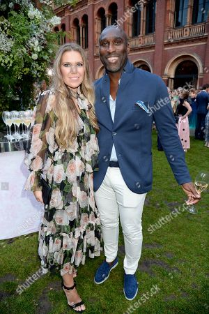 Stock Image of Fiona Barratt-Campbell and Sol Campbell