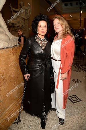 Bianca Jagger and guest