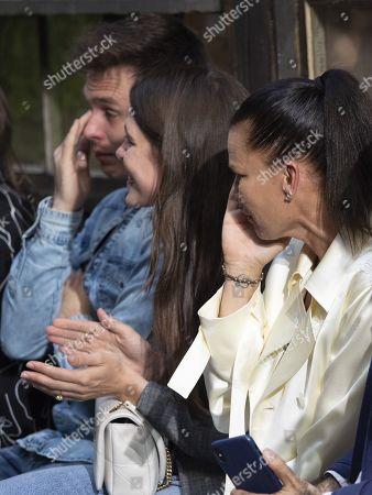 (L-R) Louis Ducruet, Charlotte Casiraghi and Princess Stephanie of Monaco