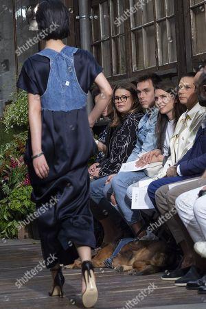 (L-R) Camille Marie Kelly Gottlieb, Louis Ducruet, Charlotte Casiraghi and Princess Stephanie of Monaco