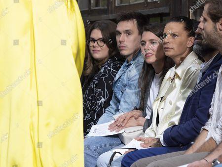 Camille Marie Kelly Gottlieb, Louis Ducruet, Charlotte Casiraghi (C) and Stephanie of Monaco