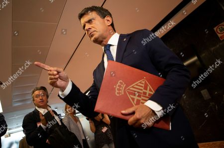 Editorial picture of Manuel Valls Press conference in Barcelona, Spain - 19 Jun 2019