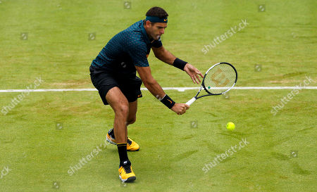 Stock Picture of Juan Martin del Potro of Argentina in action