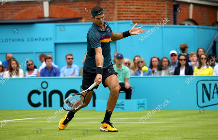 Stock Image of Juan Martin del Potro of Argentina in action