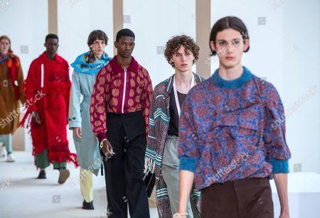 Editorial photo of Acne - Runway - Paris Men's Fashion Week S/S 2020, France - 19 Jun 2019