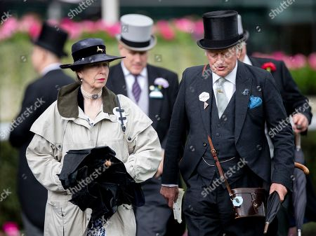 Stock Photo of Princess Anne and Andrew Parker Bowles