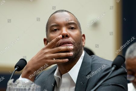 Ta-Nehisi Coates, journalist and writer, appears before the US House Judiciary subcommittee hearing entitled 'HR 40 and the Path to Restorative Justice' - a hearing held to discuss slavery reparations, on Capitol Hill in Washington, DC, USA, 19 June 2019.