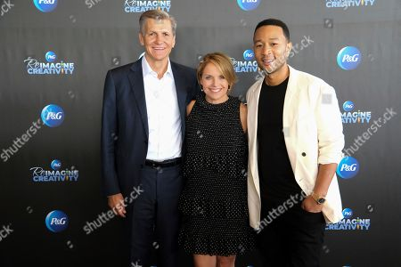 Elevating Creativity through Humanity with Marc Pritchard (P&G), Katie Couric and John Legend at the Speakers Corner on in Cannes