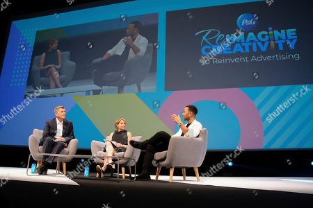 Elevating Creativity through Humanity with Marc Pritchard (P&G), Katie Couric and John Legend in the Paris Lumiere theater on in Cannes