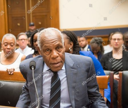 Danny Glover arrives at the House Judiciary Subcommittee on the Constitution, Civil Rights, and Civil Liberties will hold a hearing on H.R. 40, the Commission to Study and Develop Reparation Proposals for African-Americans Act.