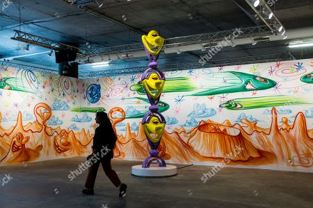 Art installation by artist Kenny Scharf can be seen displayed at the 'Beyond the Streets' exhibition in Brooklyn, New York, USA, 19 June 2019. The show features graffiti, street art and photography from more than 150 artists from around the world and the program will include performances, lectures and films.