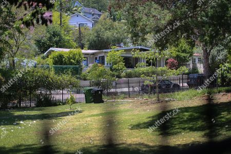 The house at 1911 Pinehurst Road is seen across the street from a park where the accused is said to have watched the house, as jury members visit an evidence site during the murder trial of Michael Gargiulo in Los Angeles, California, USA, 19 June 2019. Gargiulo is charged in the stabbing deaths of two women, one of whom was about to go out with actor Ashton Kutcher that night, as well as attempting to kill a woman during a robbery at her Santa Monica home.