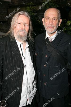 Christopher Hampton and John Malkovich (Barney Fein)