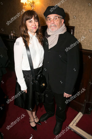 Rebecca Pidgeon and David Mamet (Author/Director)