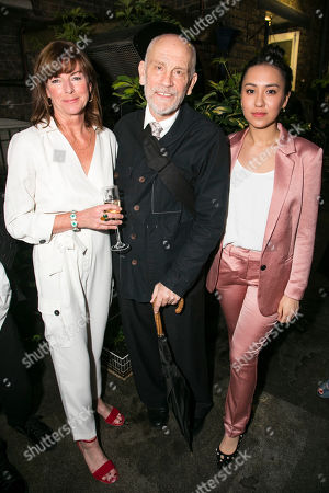 Doon Mackichan (Sondra), John Malkovich (Barney Fein) and Ioanna Kimbrook (Yung Kim Li)