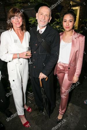 Stock Image of Doon Mackichan (Sondra), John Malkovich (Barney Fein) and Ioanna Kimbrook (Yung Kim Li)